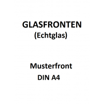 Echtglas Muster DIN A4